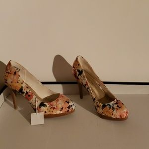 Christian siriano floral shoes size 6 1/2